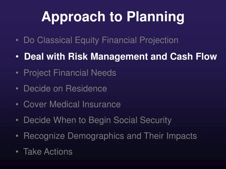 Approach to Planning