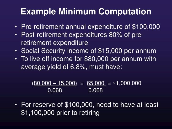 Example Minimum Computation