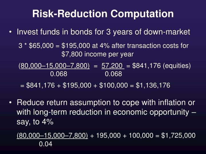 Risk-Reduction Computation