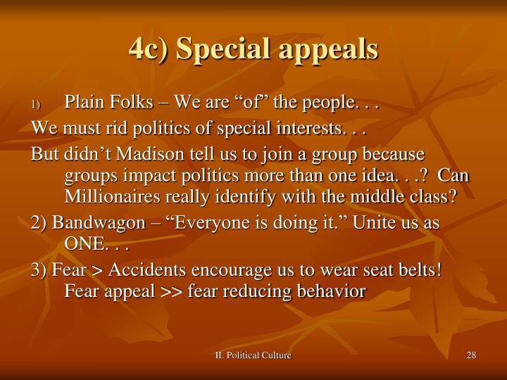 4c) Special appeals
