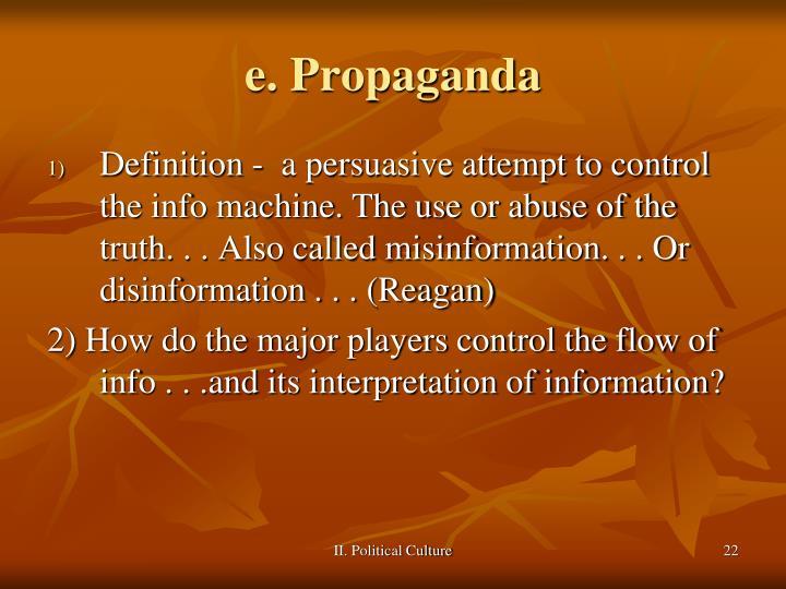 e. Propaganda
