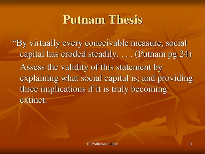 Putnam Thesis