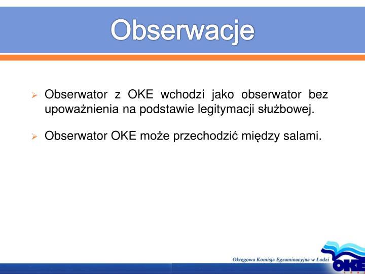 Obserwacje