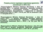 przepisy prawne reguluj ce organizacj egzamin w zawodowych w 2013 roku