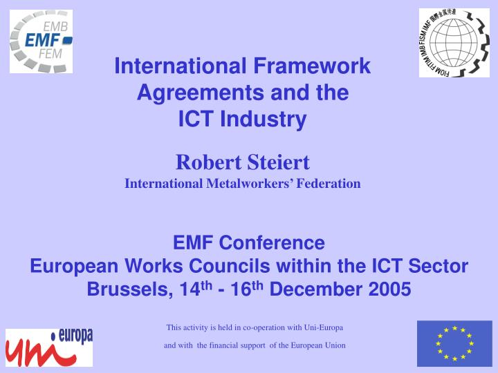 Ppt Emf Conference European Works Councils Within The Ict Sector