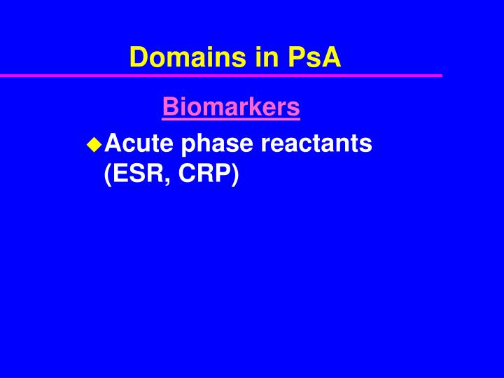 Domains in PsA