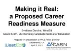 making it real a proposed career readiness measure