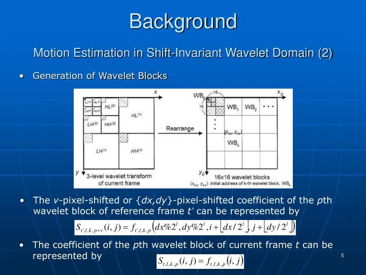Generation of Wavelet Blocks