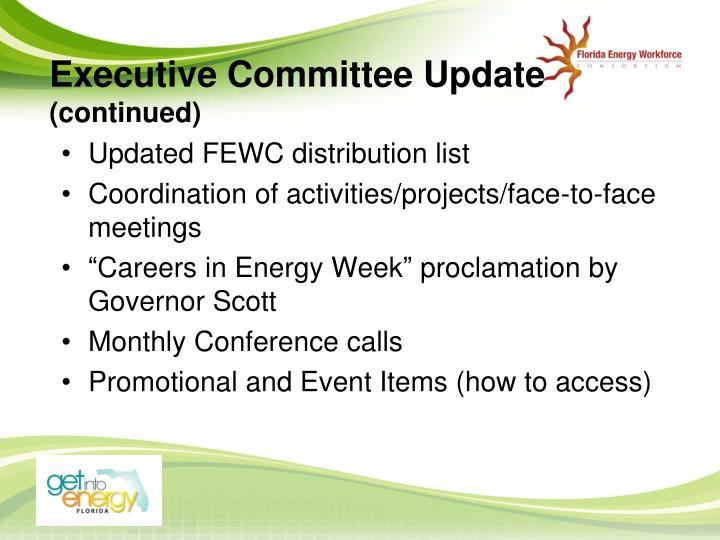 Executive Committee Update