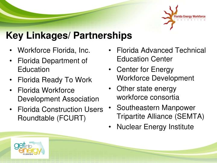 Key Linkages/ Partnerships