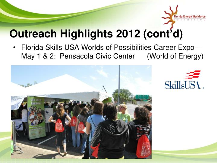 Outreach Highlights 2012 (cont'd)