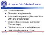 a improve data collection process