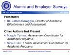alumni and employer surveys