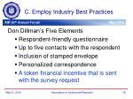 c employ industry best practices