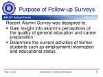 purpose of follow up surveys