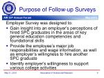 purpose of follow up surveys1
