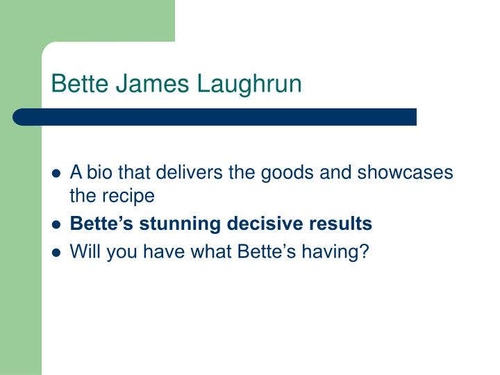 Bette James Laughrun