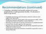 recommendations continued5