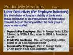 productivity measures contd