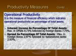 productivity measures contd1