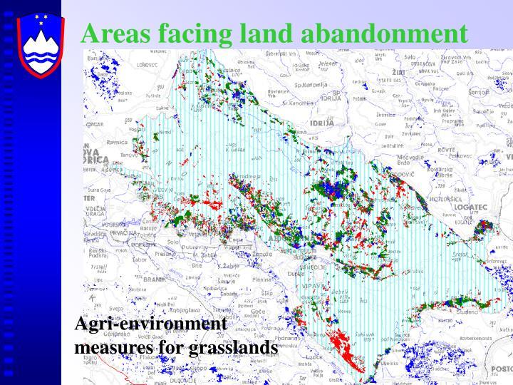 Areas facing land abandonment