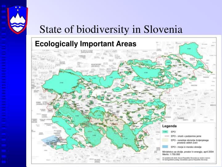 State of biodiversity in slovenia1