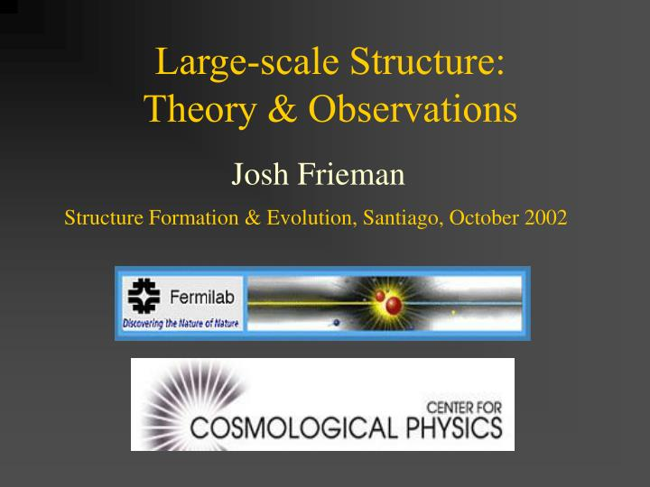 large scale structure theory observations n.