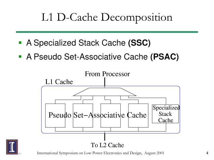 L1 D-Cache Decomposition