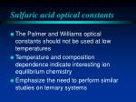 sulfuric acid optical constants4
