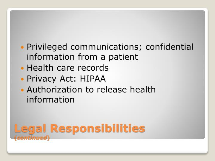 Privileged communications; confidential information from a patient