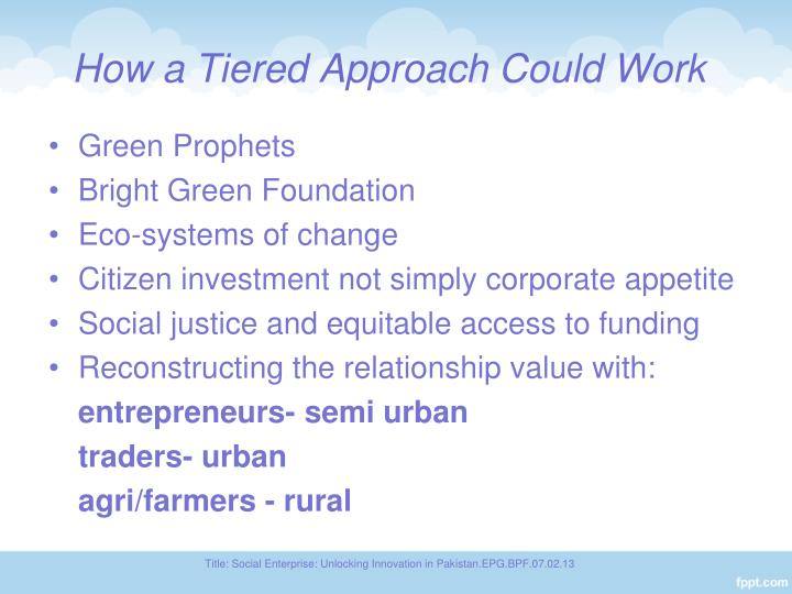 How a Tiered Approach Could Work