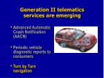 generation ii telematics services are emerging1