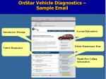 onstar vehicle diagnostics sample email