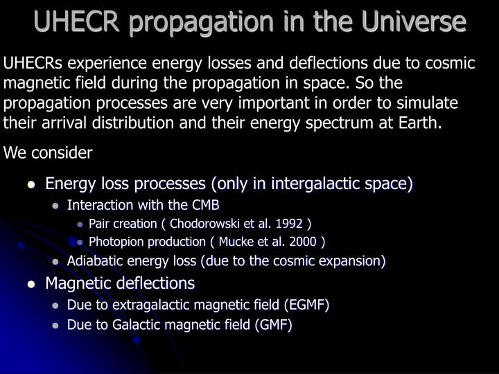 UHECR propagation in the Universe