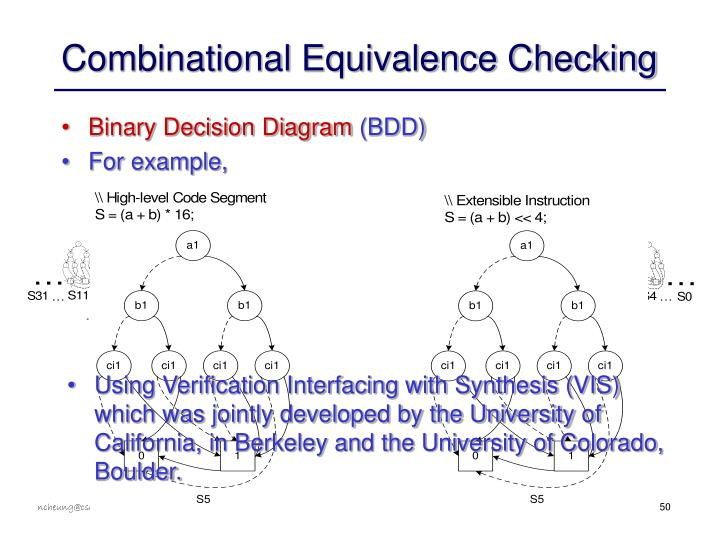 Combinational Equivalence Checking