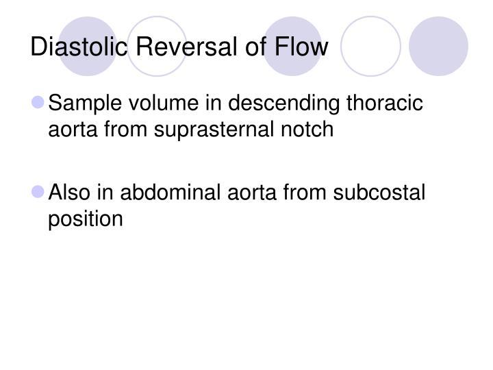 Diastolic Reversal of Flow