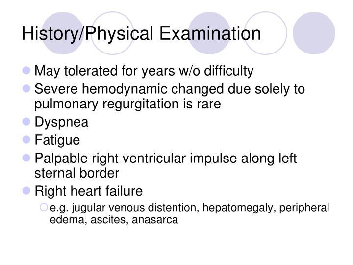 History/Physical Examination