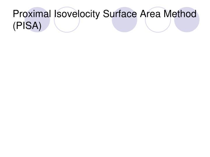Proximal Isovelocity Surface Area Method (PISA)