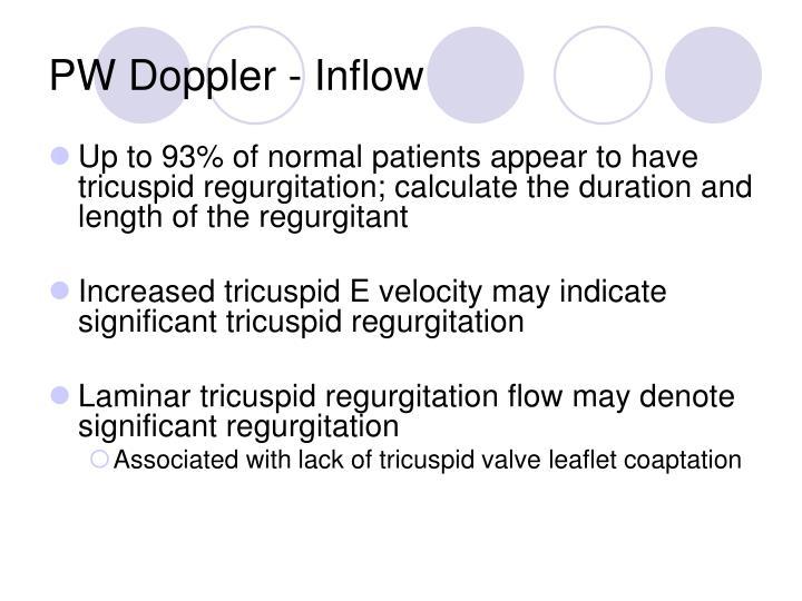 PW Doppler - Inflow