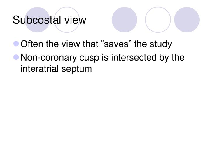Subcostal view