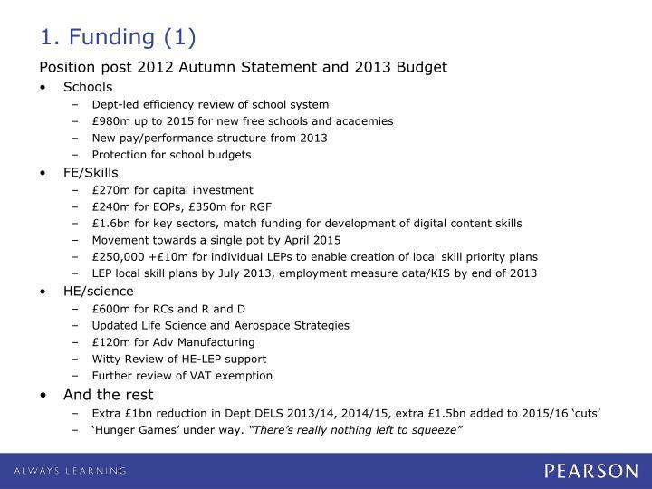 1 funding 1