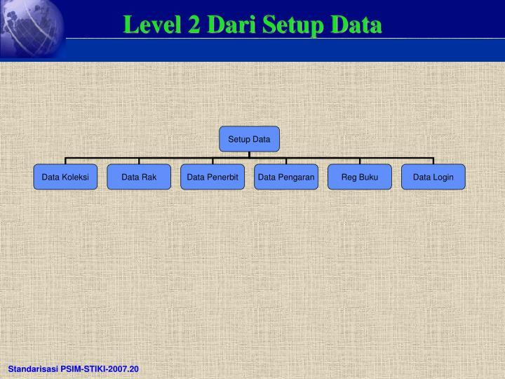 Level 2 Dari Setup Data