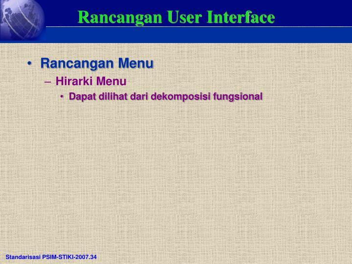 Rancangan User Interface