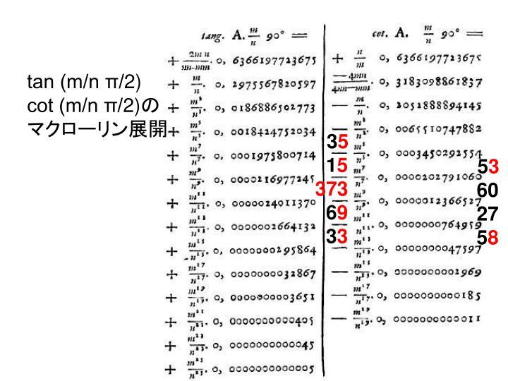 tan (m/n π/2)