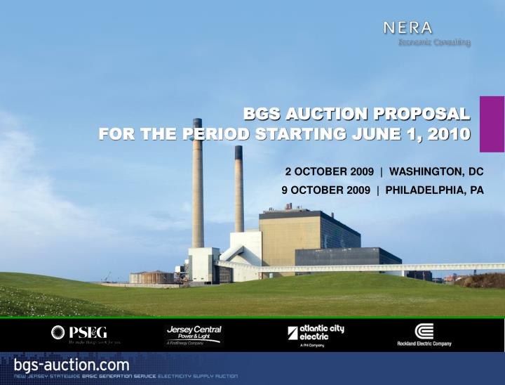 bgs auction proposal for the period starting june 1 2010 n.