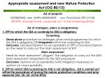 appropriate assessment and new nature protection act og 80 13