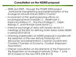 consultation on the n2000 proposal