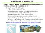 m anagement of natura 20001