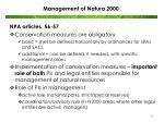 management of natura 2000