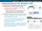 authenticating to the wireless lan1